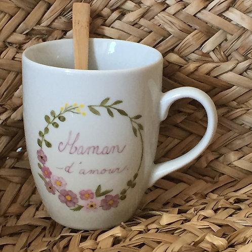 """Mug personnalisé """"maman d'amour"""""""