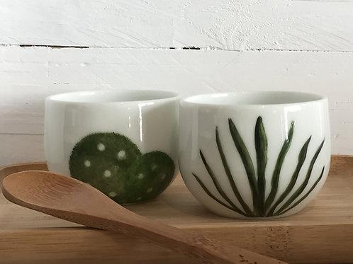 """Tasses à café """" cactus"""""""