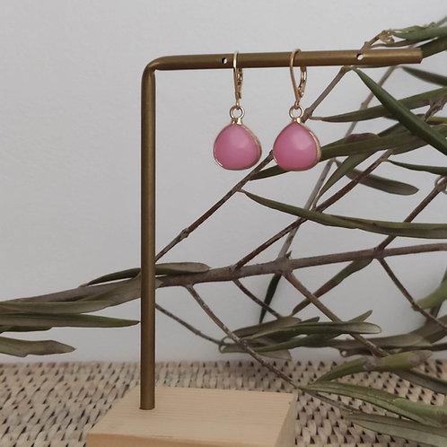 "Boucles d'oreilles pendantes ""Jade """