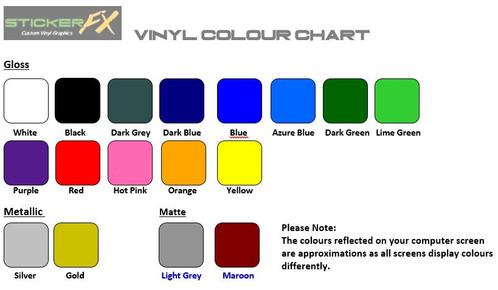 Commodore Silhouette Sticker FX Custom Vinyl Decals  Stickers - Custom vinyl decals australia