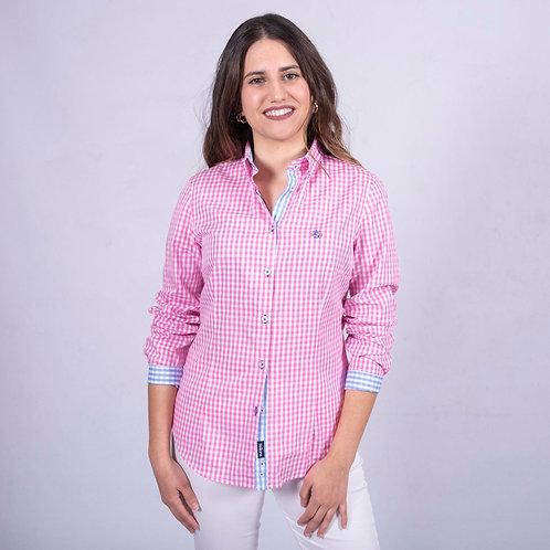Camisa cuadros rosa