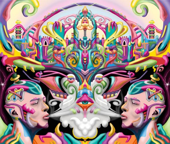 Ayjay visionary and Psychedelic art