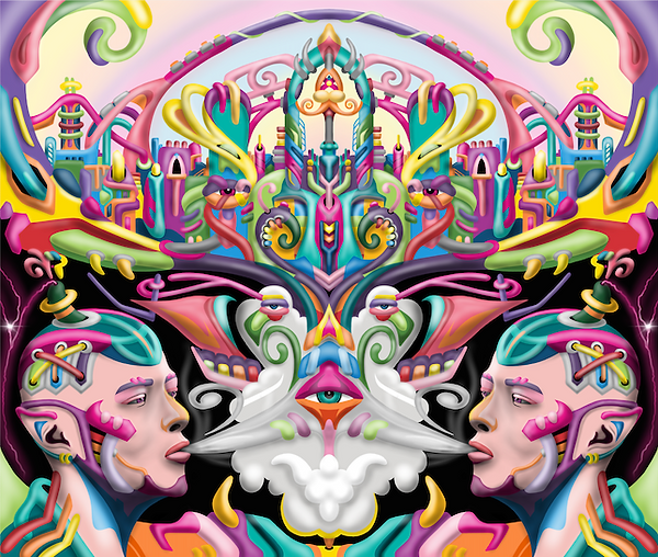 Ayjay visionary and Psychedelic art