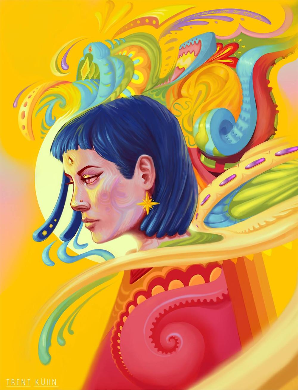 Art by Trent Kuhn the artist