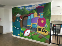 Completed mural for home wall
