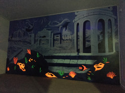 uv sensitive indoor mural art