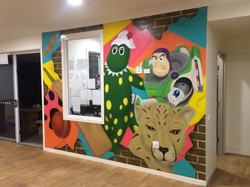 Kids wall mural idea