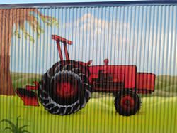 farm yard mural art