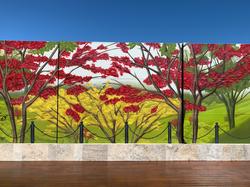 Landscape street art mural