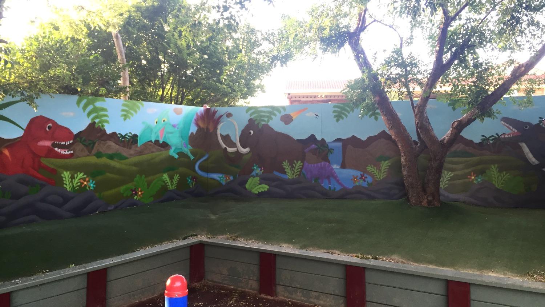 preschool street art mural