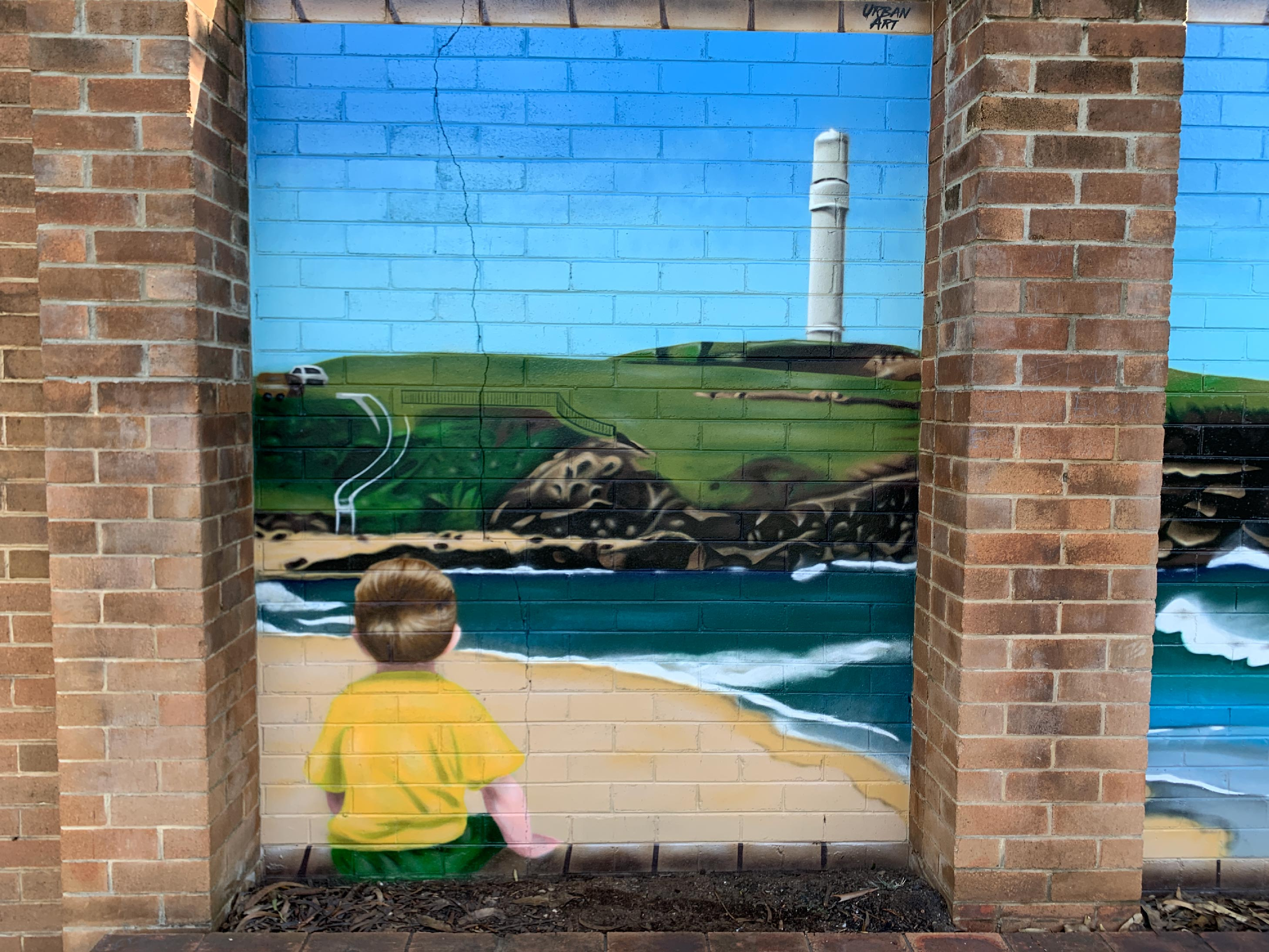 School Playground Wall Art Mural
