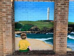 School Playground Wall Art Mural