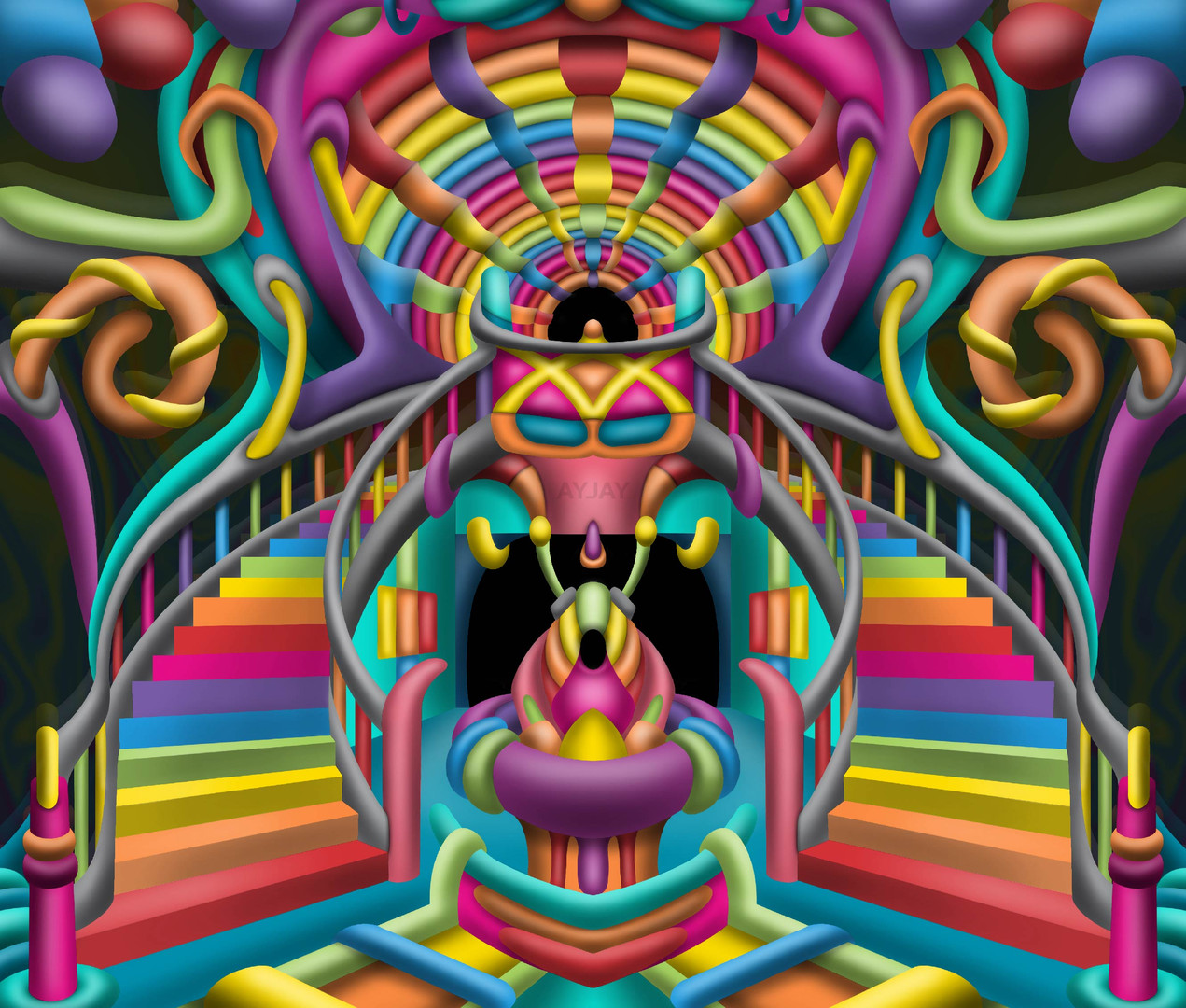 Celestial Stairway Psychedelic Art