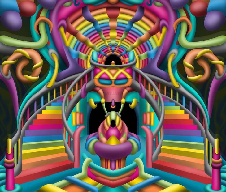 Celestial Stairway Psychedelic Art