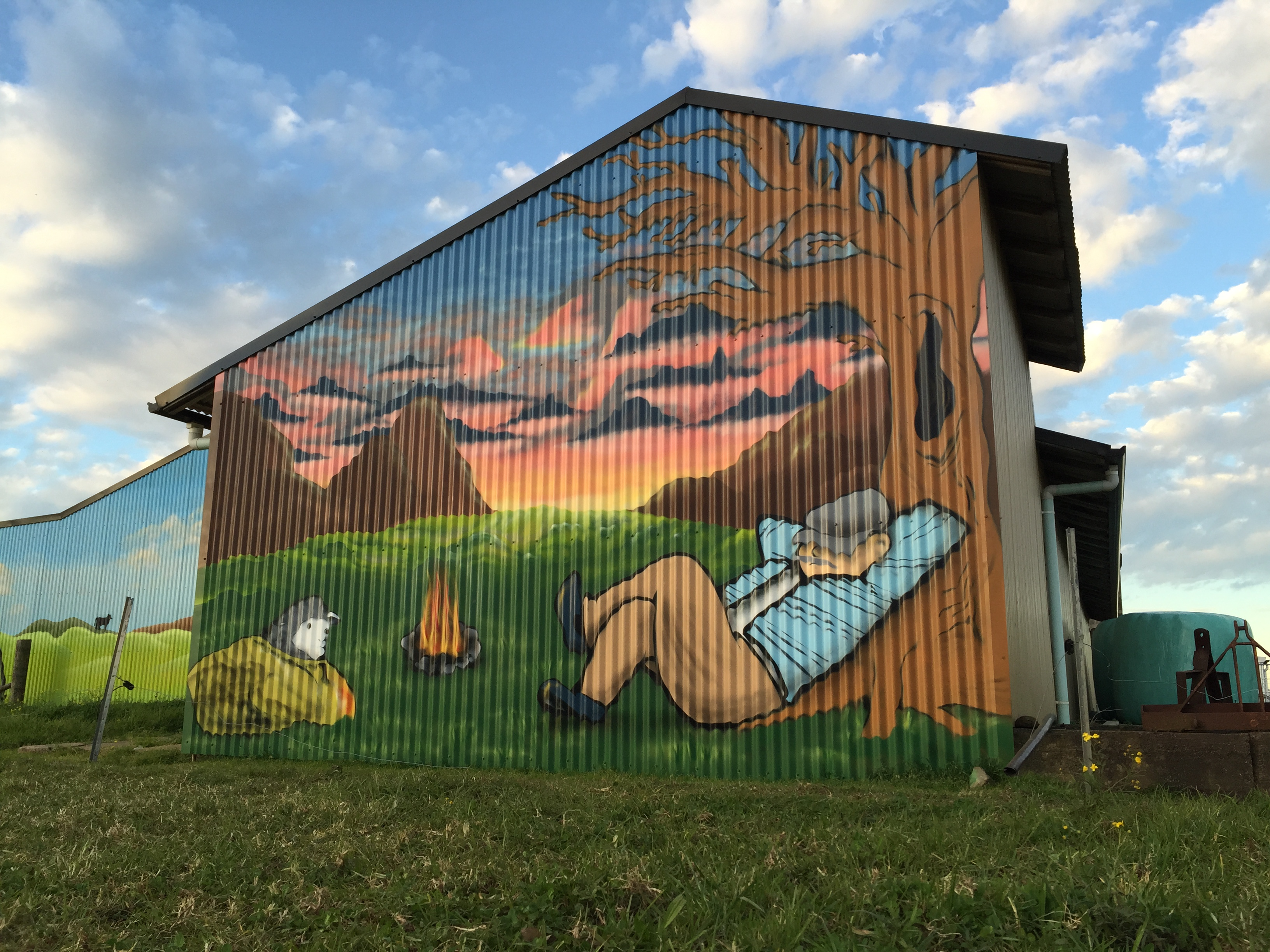 aussie outback mural art