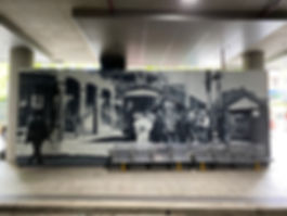corporate mural art by Urban Ar