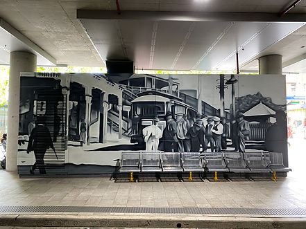 corporate mural art by Urban Ar