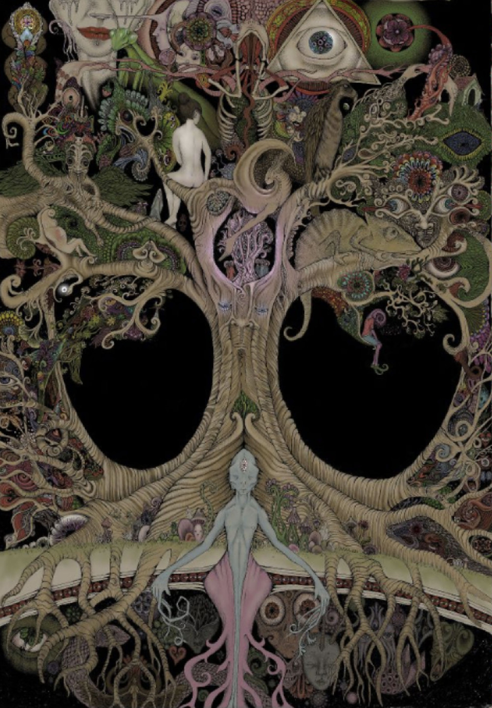Tree of life artwork by Mr. Crystalface
