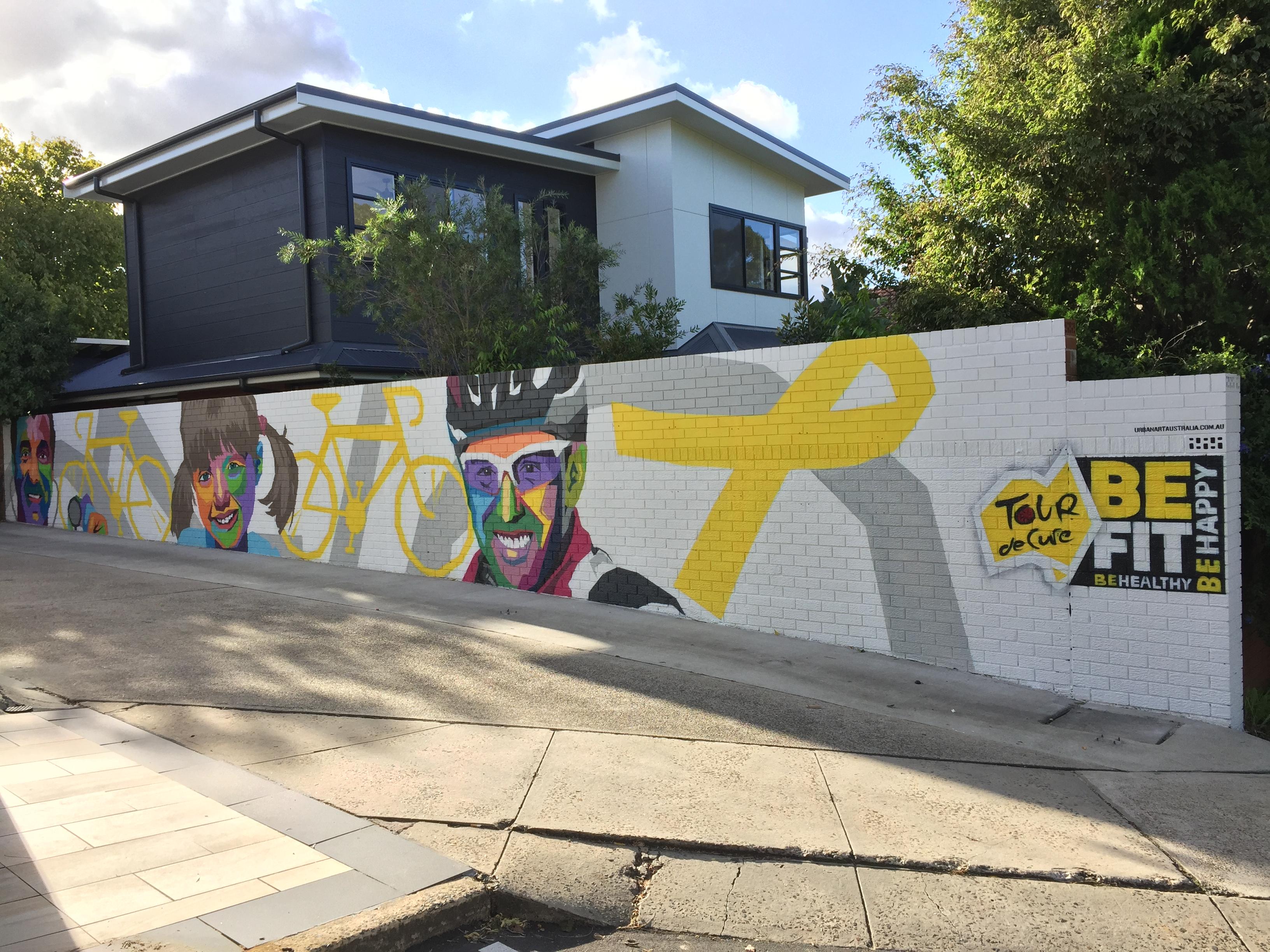 Tour De Cure street art mural