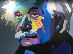 Albert Einstein vector art mural