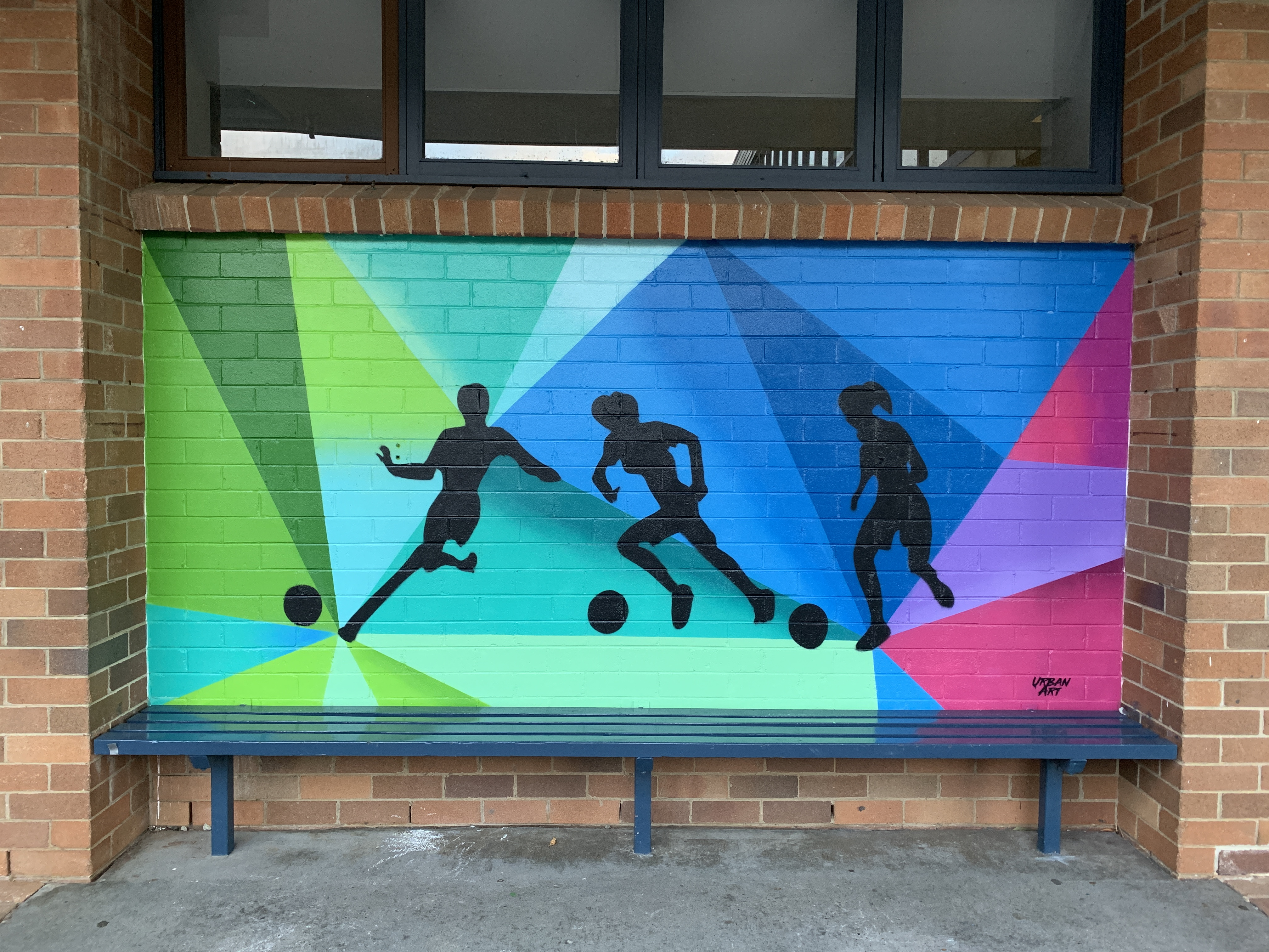 Soccer Graffiti Art Mural