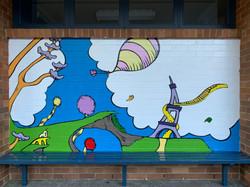 Dr Seuss book wall art mural