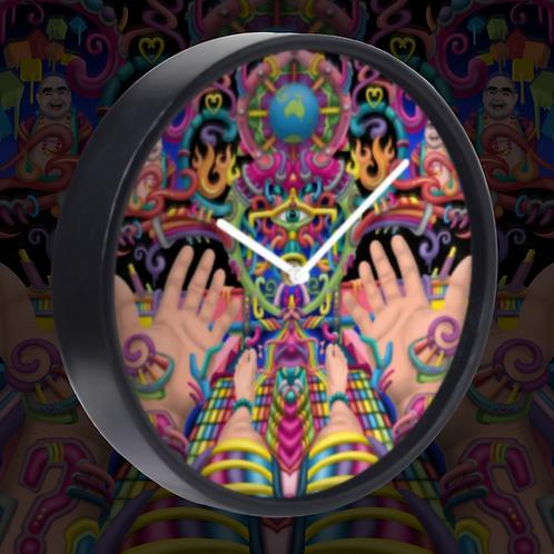 'Spirit Molecule' - Psychedelic Art Clock