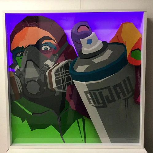 'Finger off the Trigger' | LED Artwork