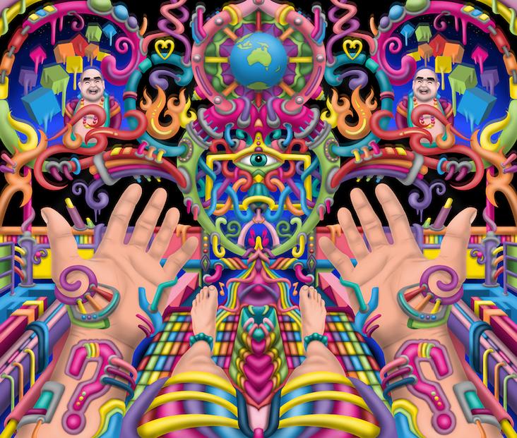 DMT Art - Spirit Molecule By Ayjay Art