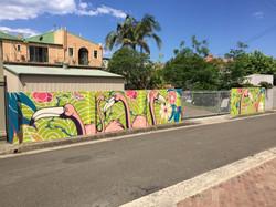 Art Deco street art mural