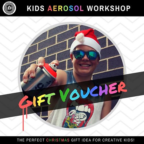 Kids Aerosol Workshop | Gift Voucher | Single Pass