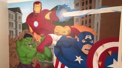 Avengers kids bedroom artwork