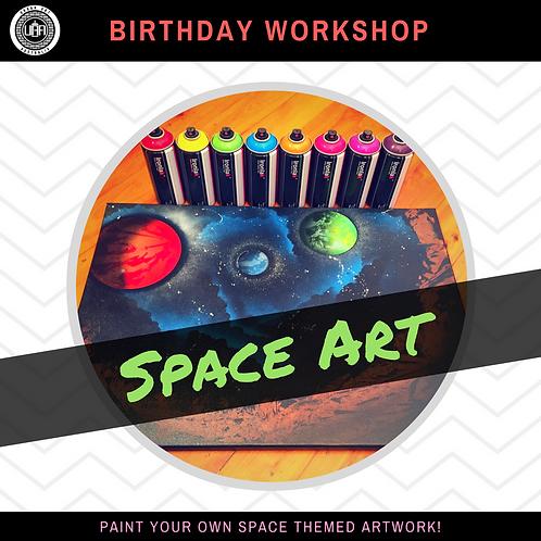 Space Art | Birthday Workshop | (10 kids)