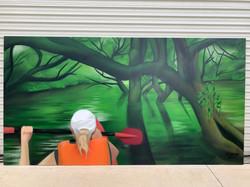 Swamp Canoe mural artwork