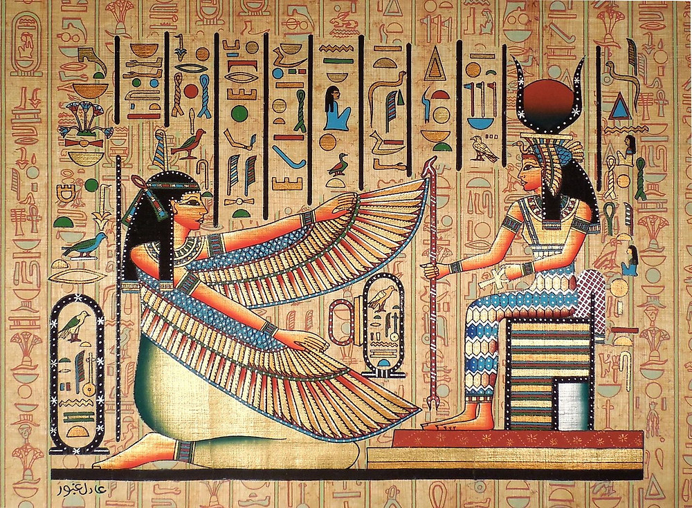 ancient Egyptian mural artwork