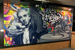 Hip Hop graffiti art mural