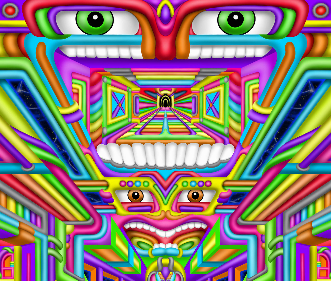Psychedelic DMT trip art by Ayjay