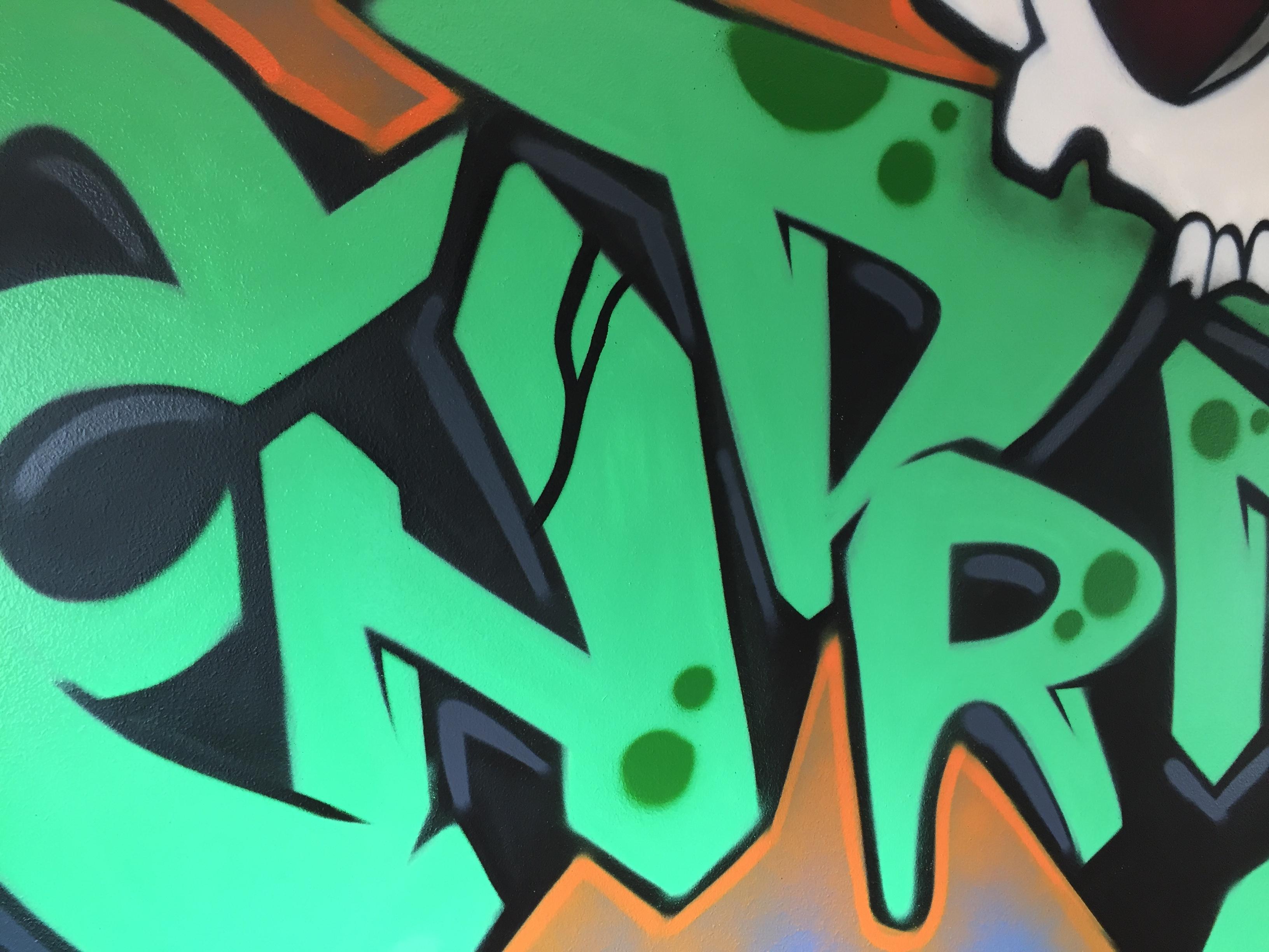 bedroom graffiti close up