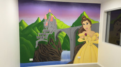 Belle Disney girls bedroom mural art