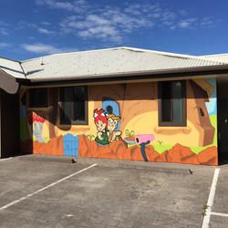 Flintstones preschool mural in Albion Park