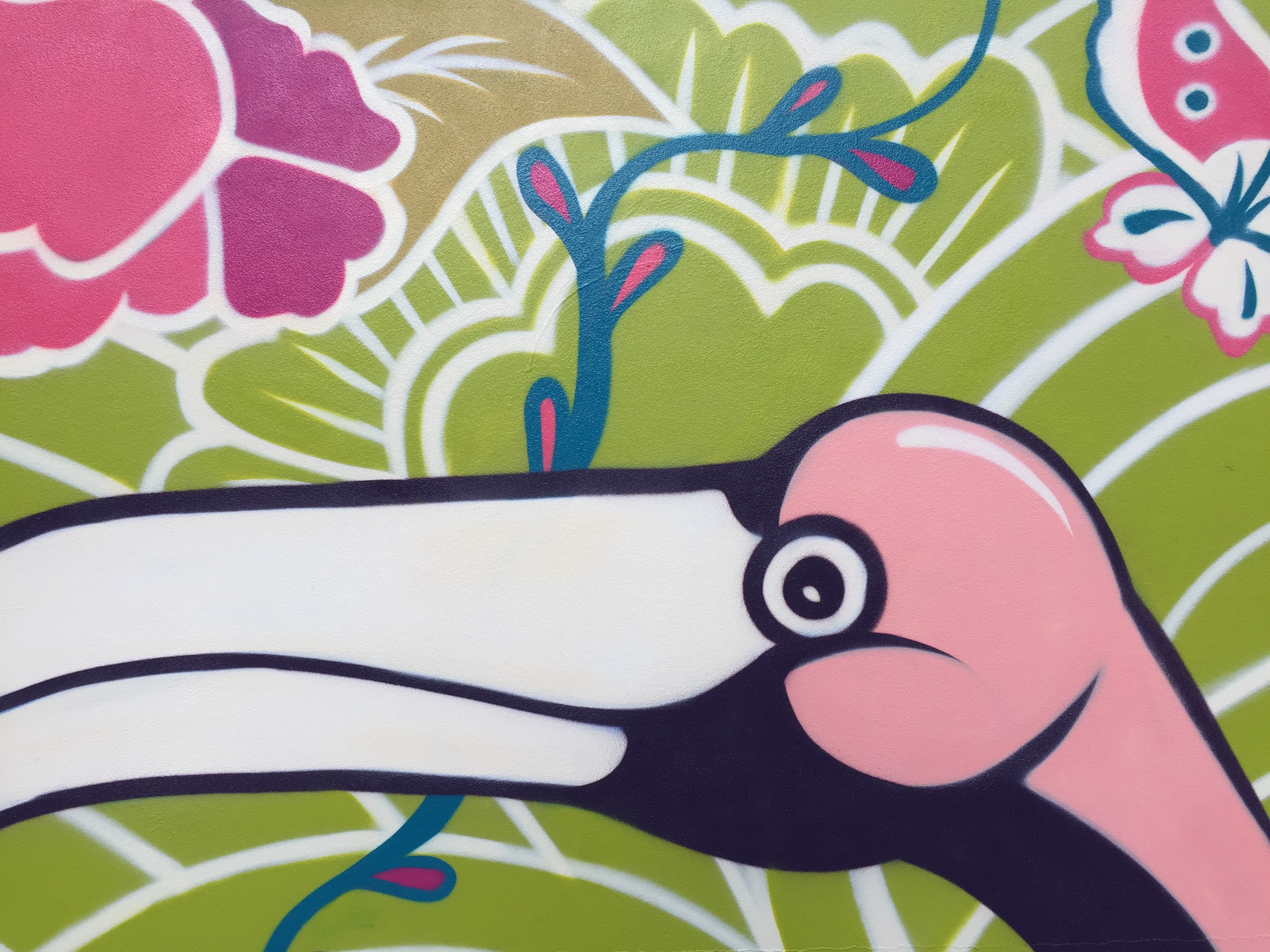 Close up of Port Kembla Mural