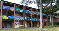 School playground graffiti murals
