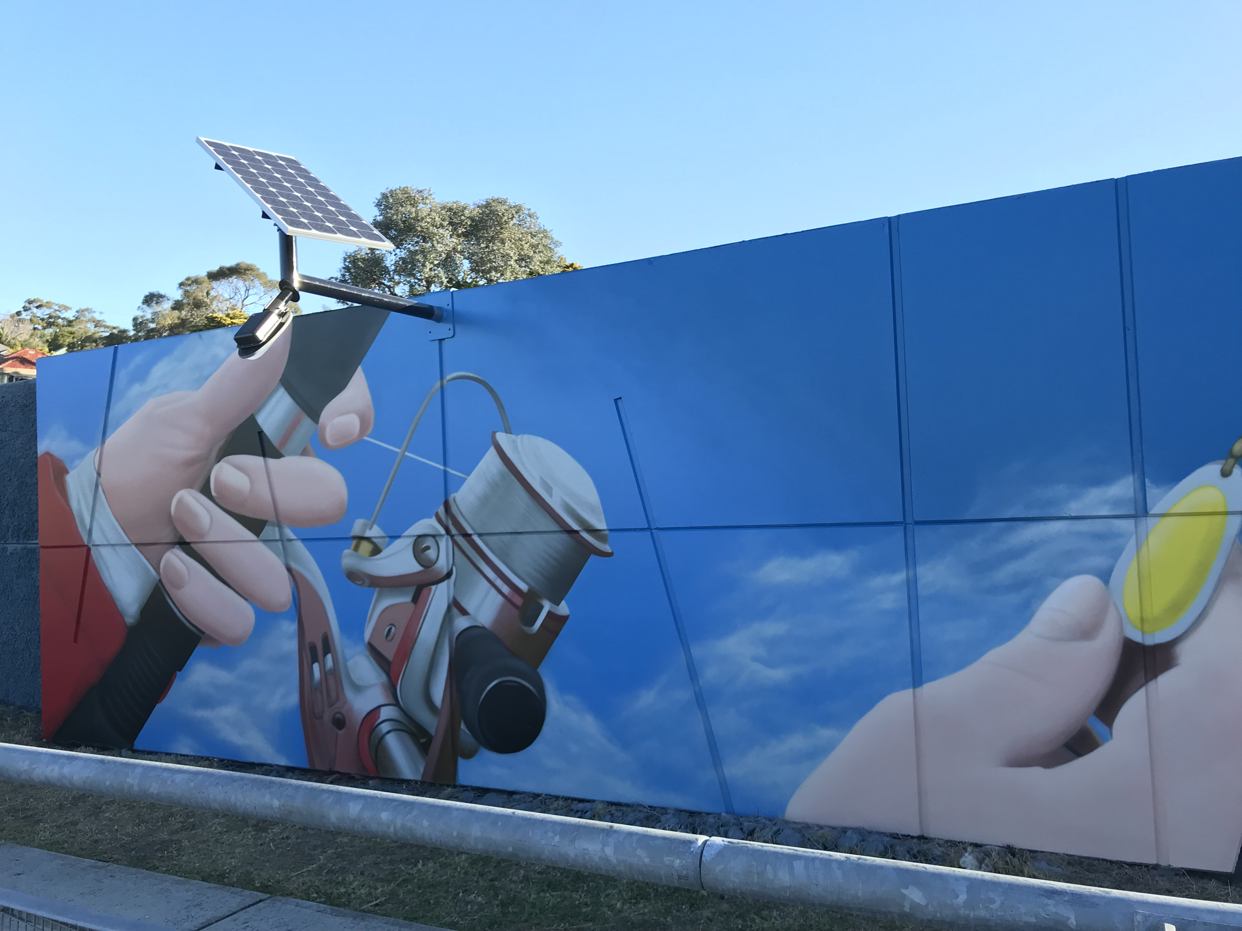 Fishing Tackle Street Art Mural
