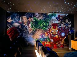 avengers home cinema street art mural