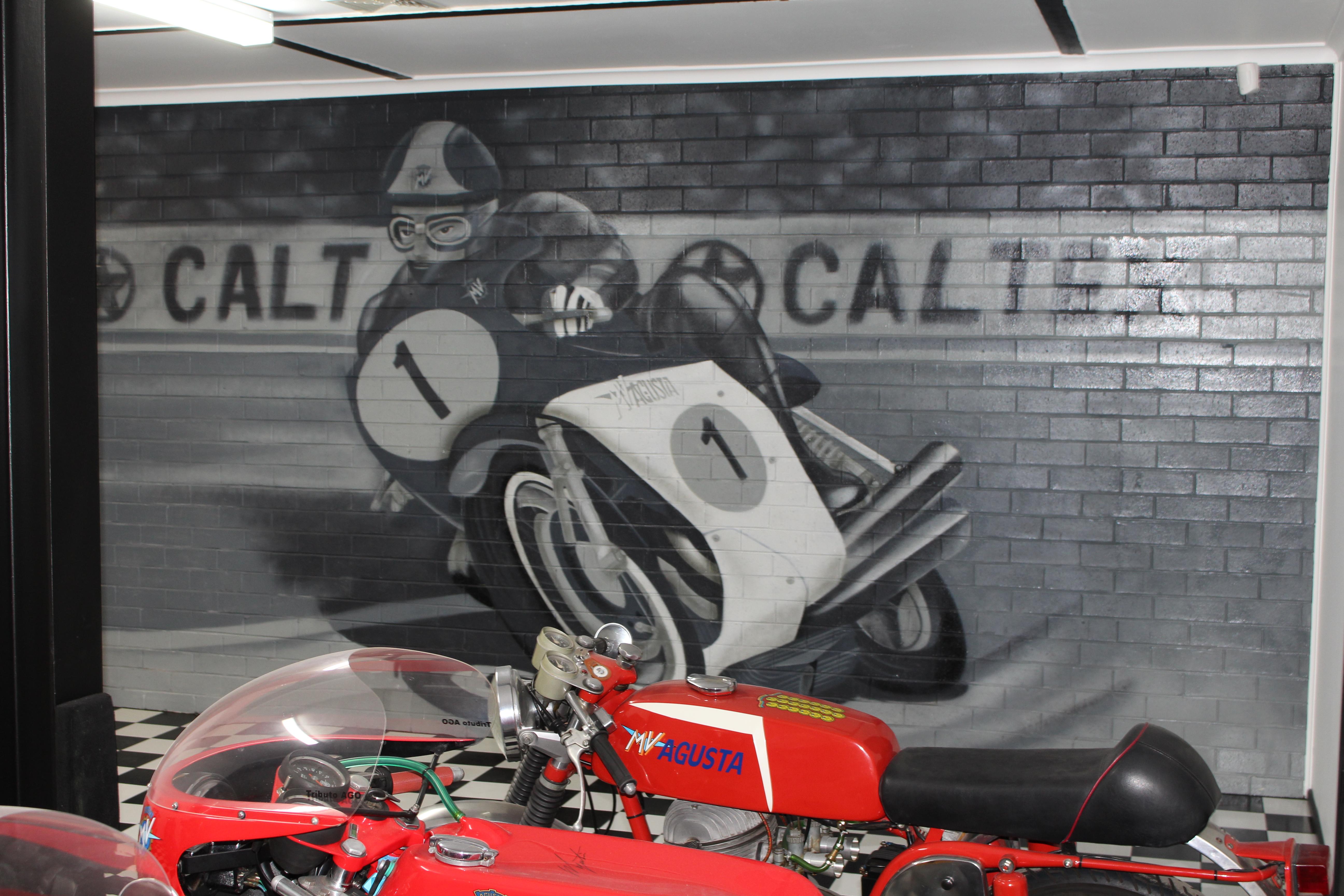 MV Agusta motorcyle mural