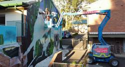 street art graffiti mural at school