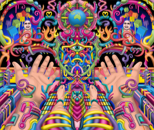DMT art by psychedelic artist Ayjay