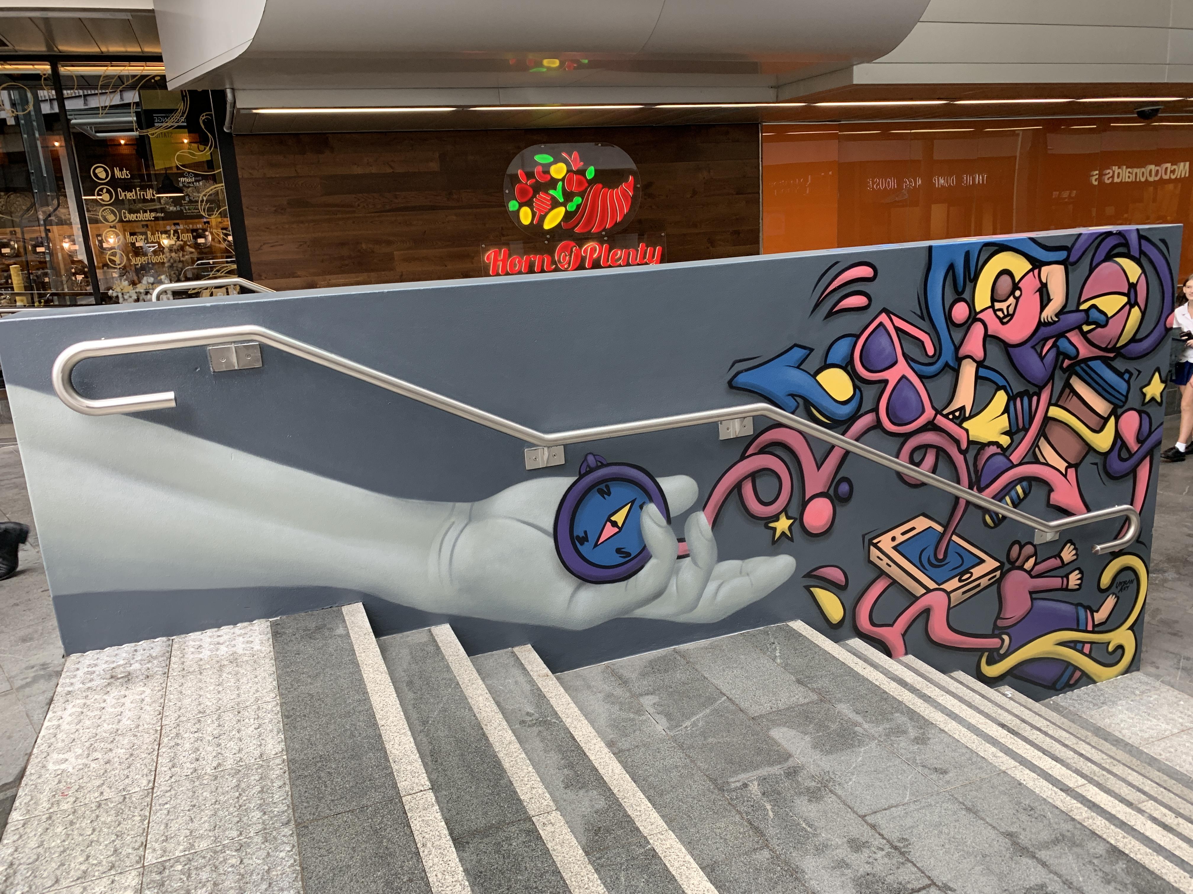 Modern street art mural by Urban Art