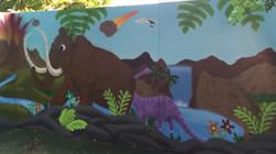 Prehistoric dinosaur mural Urban Art