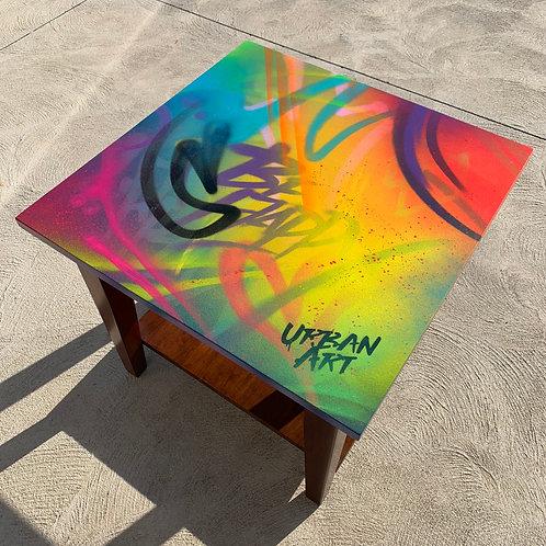 Graffiti Art Table - Hand Painted